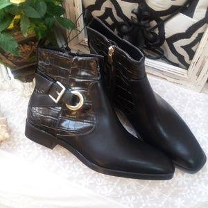 NEW! BLACK ANKLE Bootie BOOT By Zara SZ 9